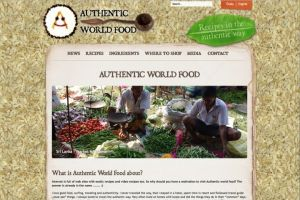 Authentic World Food website was launched