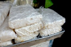 tempeh sold on the market in Bali, Indonesia