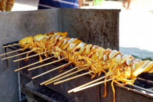 Grilled calamars, Thailand - by Authentic World Food