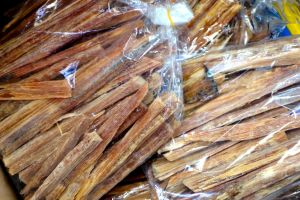 dried bamboo shoots on the market in Vietnam