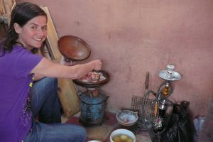 cooking tagin in Morocco
