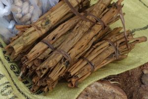 cinnamon stick packs in Midigama, local market in Sri Lanka