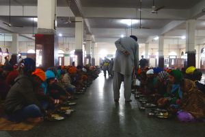 Golden temple community dining hall, Amritsar, India