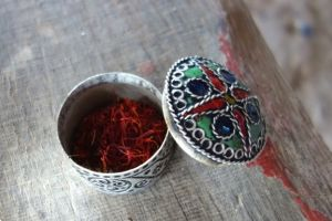 A beautiful present I got from one Moroccan family from Middle Atlas - dried saffron in a traditional Moroccan box