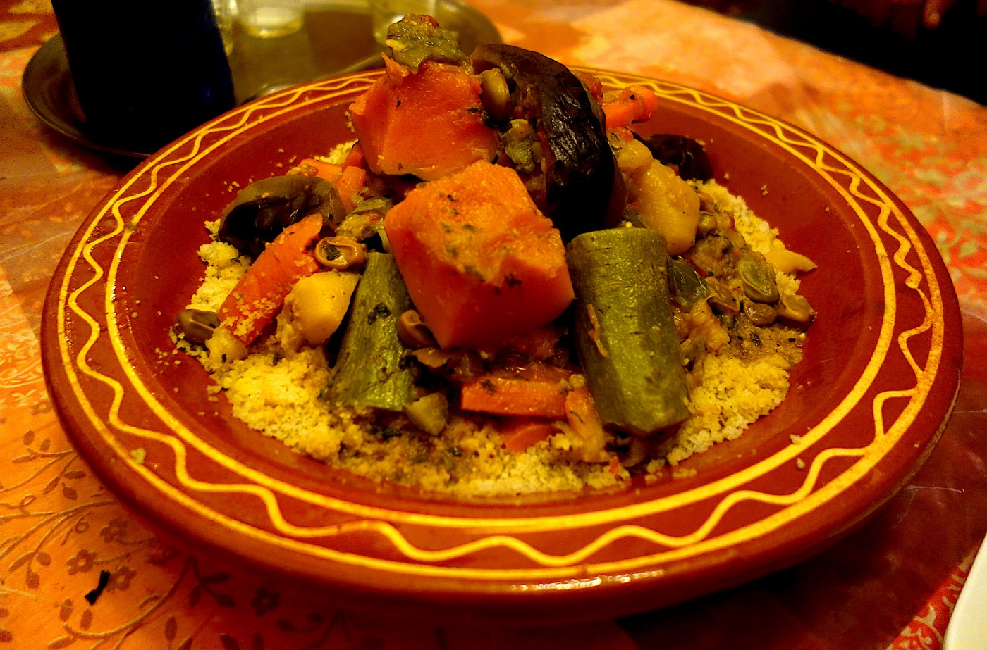 Authentic Moroccan Couscous With Beef And Vegetables Morocco Exotic Recipes Authentic World Food