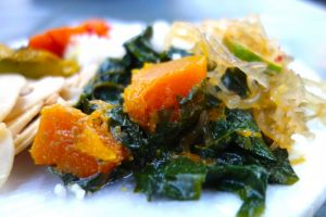 Pumpkin with spinach Malay style