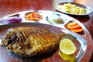 Ginger pepper fish Kerala style